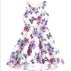 NWOT Girls Emily Rose Beautiful Floral Dress Size8